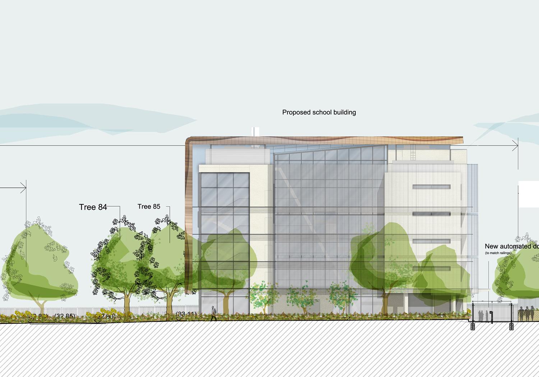 Projects-Education-HollandParkSch-RailingsElevation-1500x1050